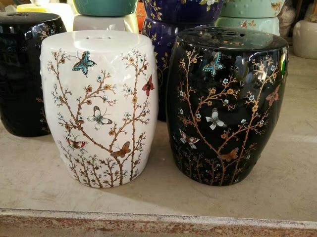 Bianco nero jingdezhen porcellana giardino sgabello sgabello di