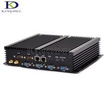 Kingdel безвентиляторный промышленный мини-ПК Win 7 Intel Celeron 2955U Dual NIC 6 * RS232 com Тонкий настольный компьютер 300 м Wi-Fi 2 * HDMI