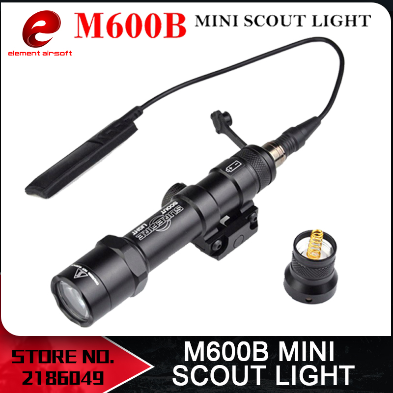 Elemento Softair Surefir M600B Mini Scout Light Arma táctica light softair Lumen Interruptor de cola remoto de alto brillo EX410