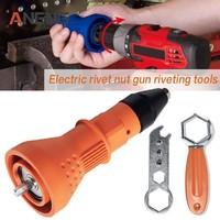 New Orange Black Blue Electric Rivet Nut Pistol Riveting Tool Cordless Riveting Drill Adaptor Power Tool