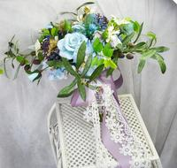Big Size New Style Wedding Bridal Bridesmaid Bouquet Handmade For Bride Bouquet Artificial Flower Holding Flower Home Decoration