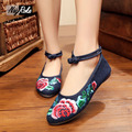 2017 fashion shallow embroidery shoes women flats crystal oxford shoes for women leisure canvas zapatos mujer flat shoes women