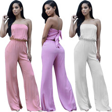 New European and American fashion popular personality casual dignified bag chest sexy womens jumpsuit