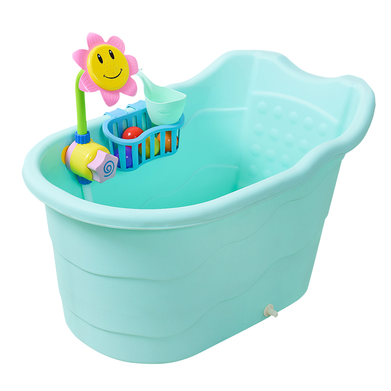 Large Size Childrenu0027s Bath Barrel Baby Bathtub Plastic Tub Portable Shower  For Age Of 0 15 Thick Insulation In Baby Tubs From Mother U0026 Kids On ...
