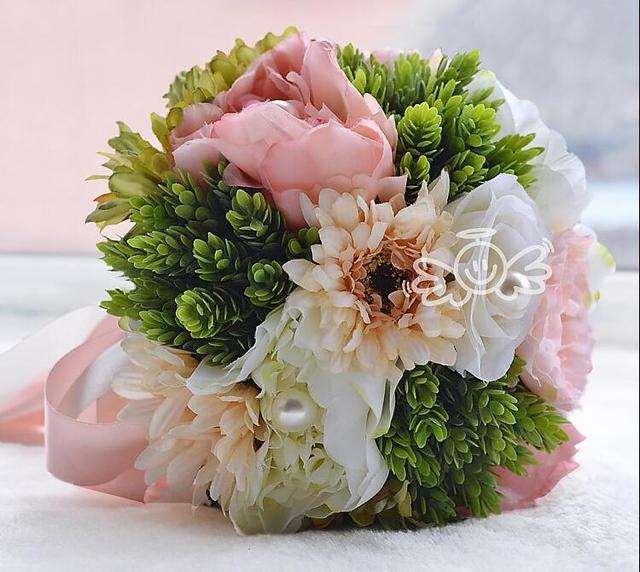 Искусственный красивые свадебные цветы свадебные букеты горячая распродажа букет мантия-де-mariage
