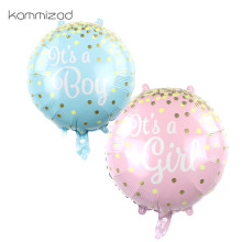 50Pcs It Is A Boy and Its Girl Baby Balloons for baby boy party Birthday Shower Party Decoration Blue Pink Colors