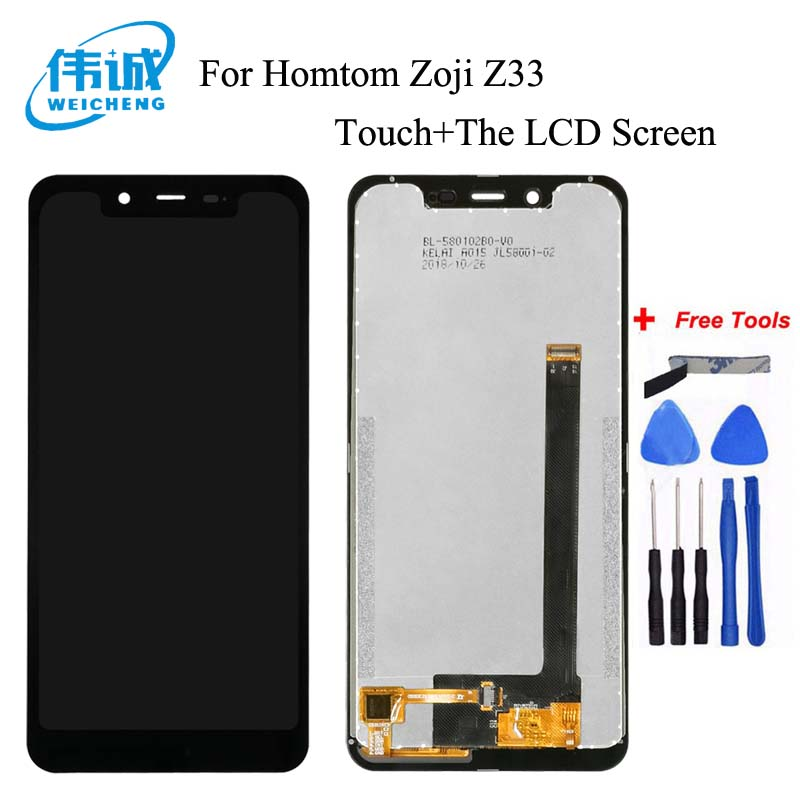WEICHENG For Homtom Zoji Z33 LCD Display+Touch Screen Digitizer Assembly For zojii z33 Accessory+Free Tools image
