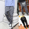 NEW men drop crotch harem sweatpants  baggy pants with Pocket mens casual hip hop outdoor silm trousers 2 colors M-XXL