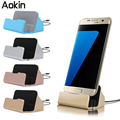 Aokin micro-cabo usb charger base dock station cradle suporte para iphone se 5S 6 6 s plus 7 para huawei p8 samsung j5 s6 carregamento