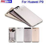 5.2Inch For Huawei P9 Back Battery Cover Back Case Rear Housing Case with fingerprint Sensor Flex Cable+Camera Len For Huawei P9