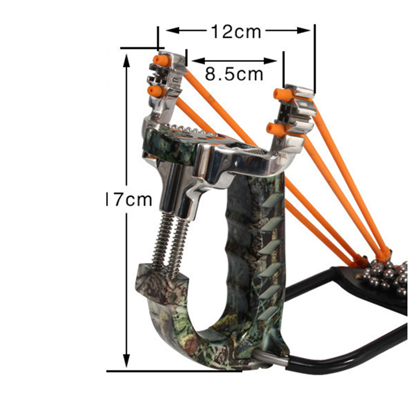 Powerful Target Shooting Slingshot with Folding Wrist Catapult Professional Hunter Hunting Fishing Sling Shot