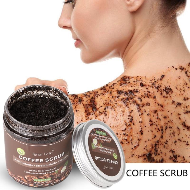 Coffee Scrub Body Scrub Exfoliators Cream Facial Dead Sea Salt For Whitening Moisturizing Anti Cellulite Treatment Acne