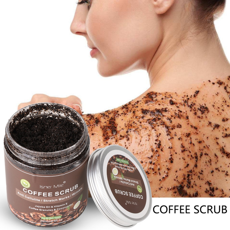 Coffee Scrub Exfoliators Exfoliation Remove Varicose Veins Cellulite Stretch Marks Scrub Cream For Body Face