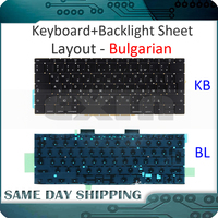 NEW Laptop for Macbook Pro Retina 13 A1708 Keyboard Bulgarian Slavic with Backlight Backlit Replacement Late 2016 Mid 2017 Year