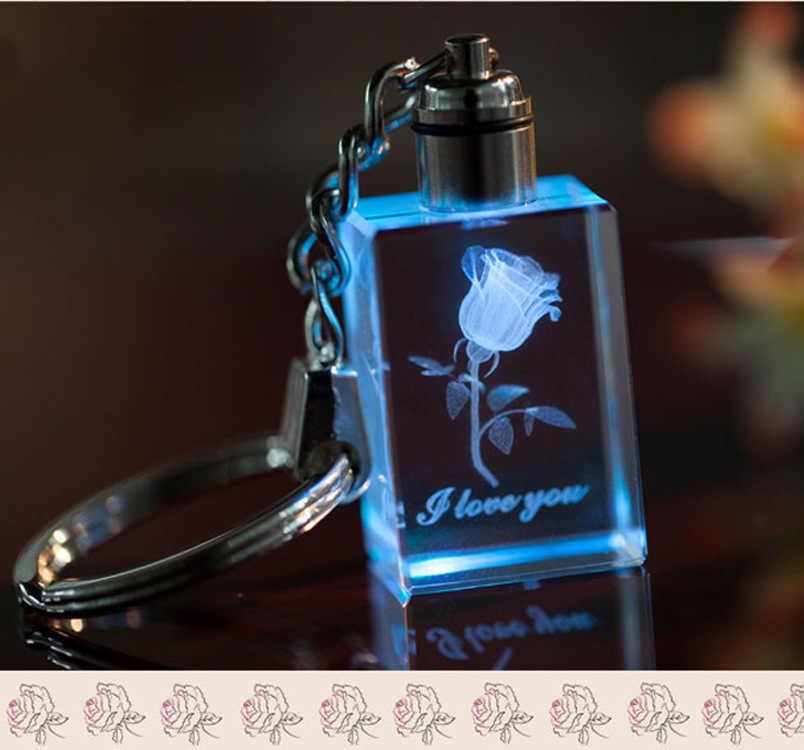 LZHLQ Presente Bonito Do Coração Da Corrente Chave Keychain de Cristal Marca de Jóias Presentes Da Festa de Moda