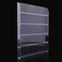 5 Layers Wall Mounted Nail Polish Acrylic Display Stand Holds Rack About 40 To 50 Bottles With Home Decoration NEW