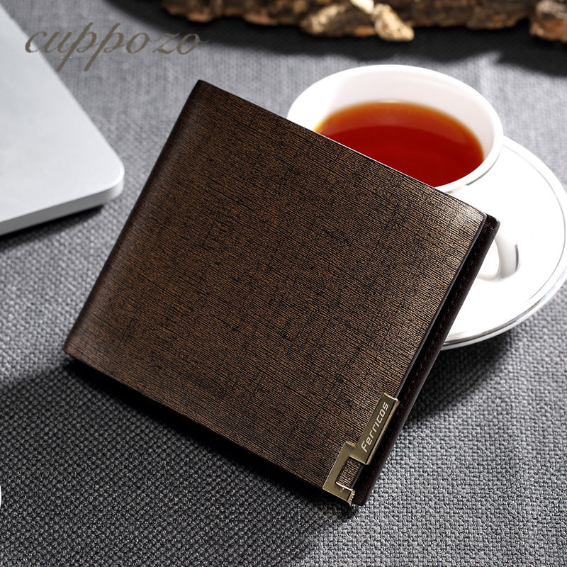 Cuppozo Genuine Leather High-End Business Men Cowhide Wallet Multi-Card Bit Wallet Gift For Boyfriend Coin Purse Card Holder