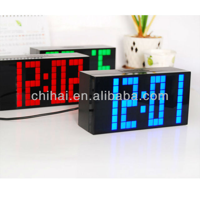 Delicieux Calendar And Thermometer Alarm Bathroom Clocks Digital