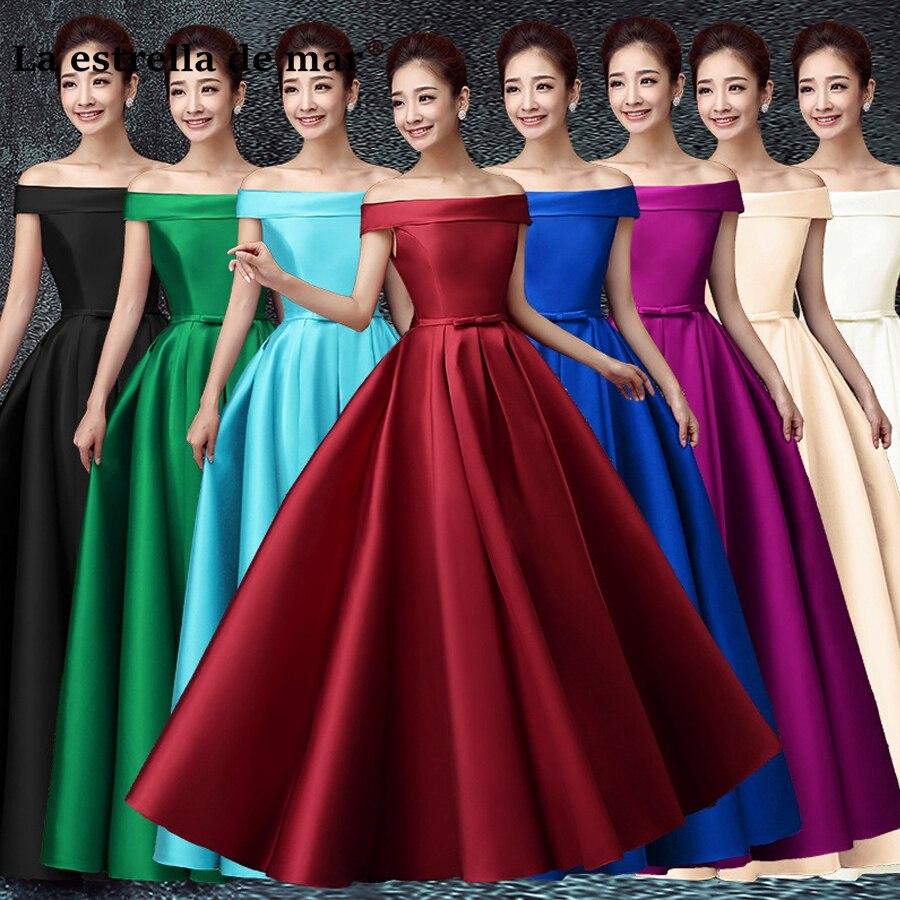 vestidos de festa vestido longo para casamento2018 New Satin Boat Neck Cap Sleeve a Line Coral Colors   Bridesmaid     dresses   Cheap