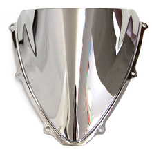 Double Bubble Windshield/Windscreen -Silver For Suzuki GSXR 600/750 K6 2006 2007 06 07
