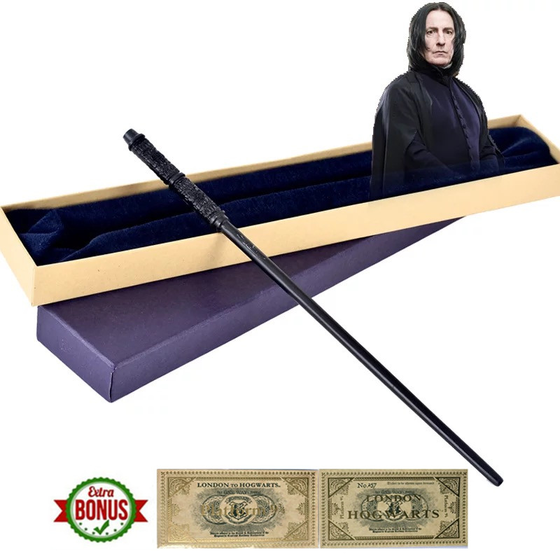 32cm Professor Severus Snape Magic Wand  Metal Core Wands Gift Box Packing Halloween Cosplay Christmas Gift