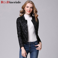 BOoDinerinle 2017 New Winter Women Ultra Light Down Casual Female Portable Duck Feather Coat Jackets Lightweight