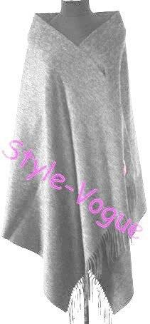 Зима Горячие Черный Для женщин шерстяная накидка Кашемир пашмины сплошной Цвет шарф шаль негабаритных 180*72 см - Цвет: light gray
