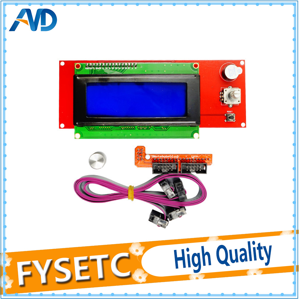 3D Printer 2004 LCD Controller with SD card slot for Ramps 1.4 - Display3D Printer 2004 LCD Controller with SD card slot for Ramps 1.4 - Display