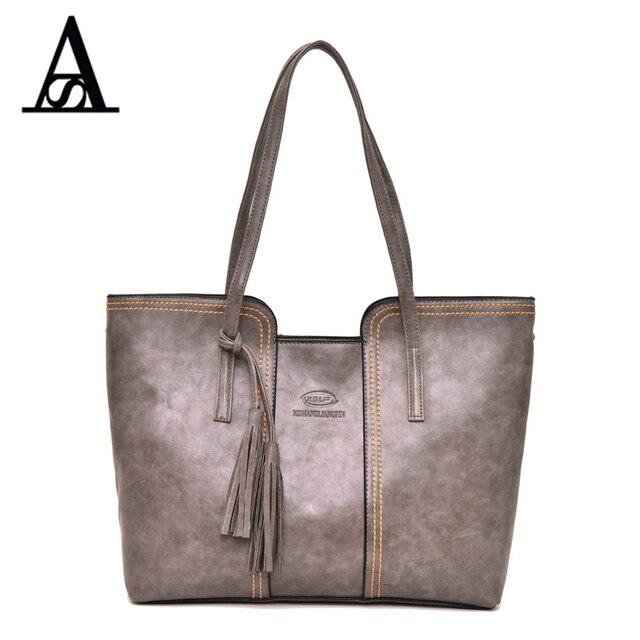 Aitesen Luxury Brand Michael Leather Handbags Women Fashion Tassel Shoulder Bags Designer Neverfull Bolsas Victor Hugo