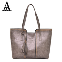 AITESEN Luxury Brand Michael Leather Handbags Women Fashion Tassel Shoulder Bags Designer Neverfull Bolsas Victor Hugo
