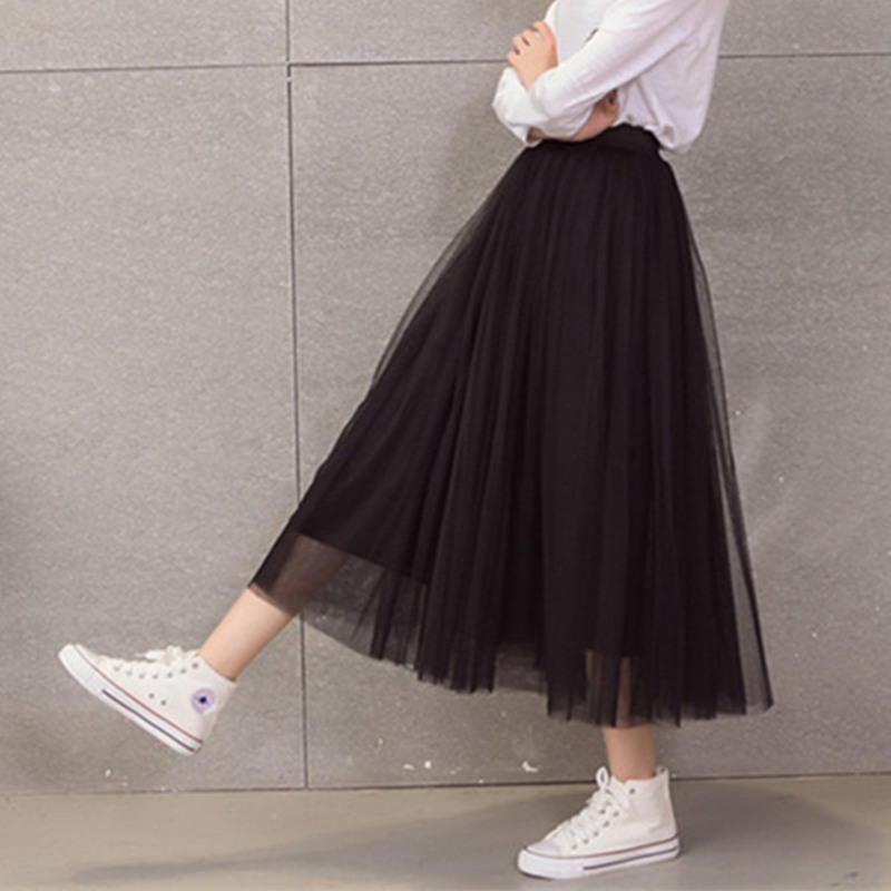 spring fashion faldas korean style big swing maxi skirts