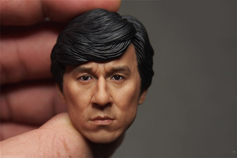 1/6 Head Sculpt Jackie Chan Head Asian Famous Star Head Model  For 12 inches Bodies Figures hot sale original jackie chan s first autobiography getting old before growing jackie chan romantic loving story chinese book