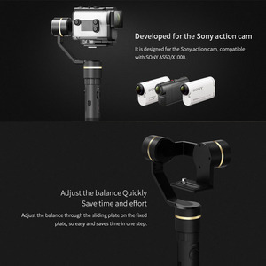 Image 5 - FeiyuTech G5GS Action Camera Gimbal Splash Proof  Handle Stabilizer Unlimited Tilting Angle for Sony X3000 X3000R AS50 AS50R