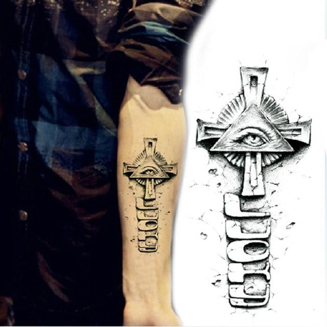 Tatouage Temporaire 3d Bras Croix Oeil Tatouage Graphique