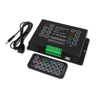DC12 24V 6A/CH*3 Brightness Dimming LED Constant Voltage RGB Controller with 21 Key IR Remote Control for LED Strip Lights