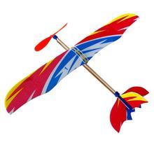 Пластиковый пенопластовый самолет эластичная резинка пластик Сделай Сам самолет модель строительные наборы обучающая игрушка Питание летающий самолет модель