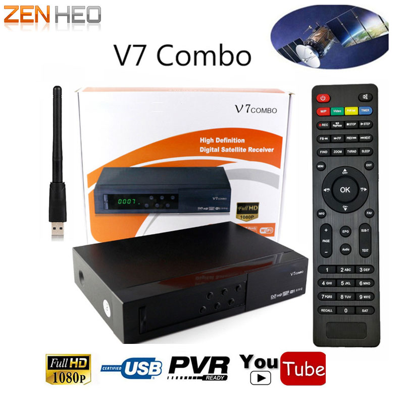 ZENHEO V7 Combo receptor HD Satellite Receiver DVB-S2 DVB-T2 With USB WIFI Support PowerVu Biss Key Newcam Youtube DVB S2 T2 freesat v8 golden support powervu biss key cccam iptv usb wifi dvb t2 dvb s2 dvb c satellite receiver dvb t2 s2 cable receptor