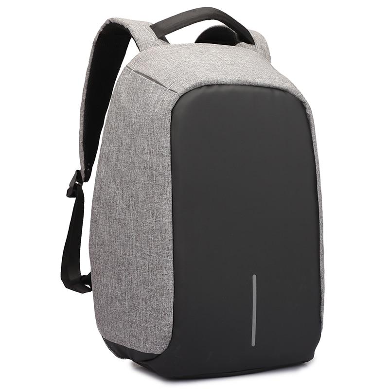 Hombres mochila antirrobo multifuncional Oxford casual mochila portátil con USB carga impermeable ordenador bolsa de viaje mochila