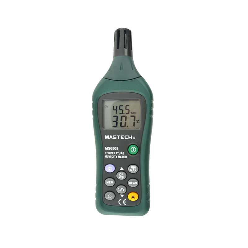 MASTECH 1Pc Mastech MS6508 Digital Ambient Temperature Humidity Moisture Wet Bulb Meter mc 7806 digital moisture analyzer price with pin type cotton paper building tobacco moisture meter