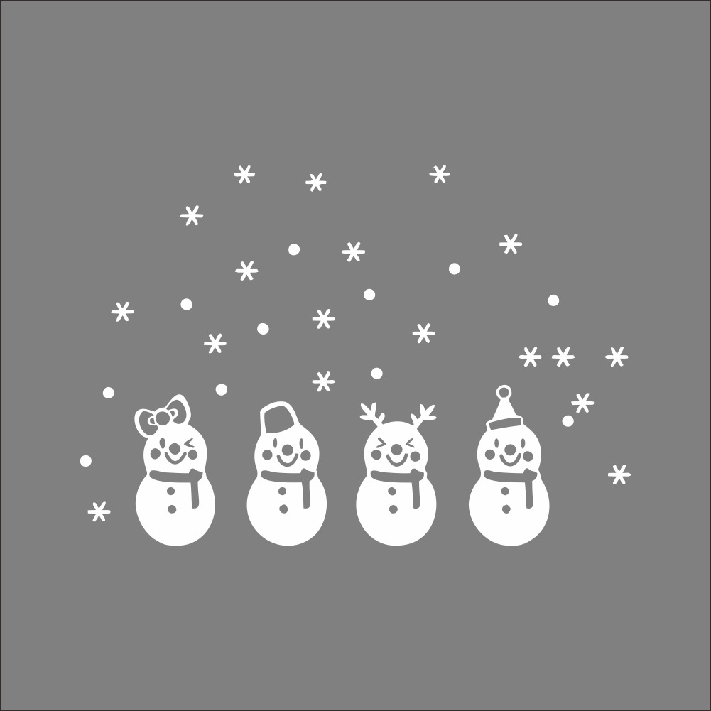 white snowflake merry christmas xmas designed vinyl wall sticker wall decals window bedroom bathroom decor