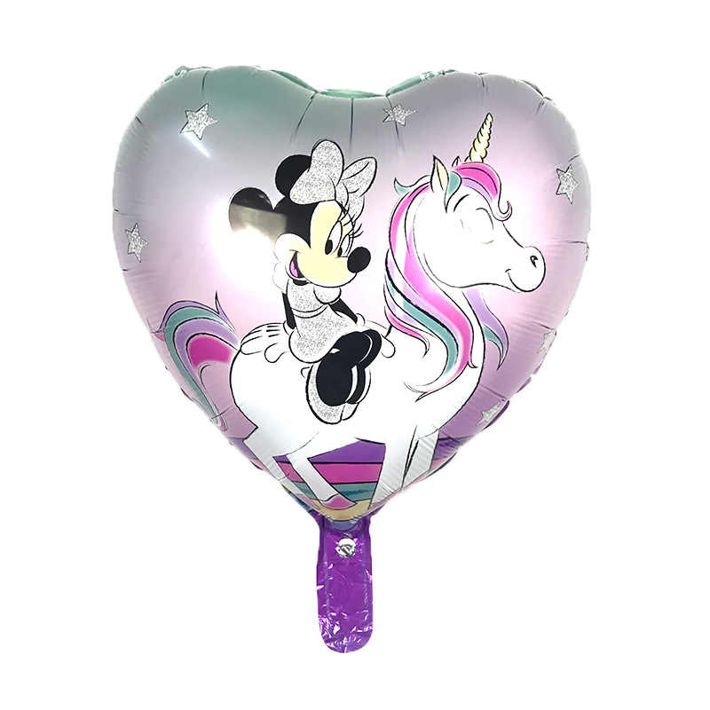 1PC heart-shaped hand-held mickey mouse pat balloon aluminum foil balloons birthday party decoration kids toy Supplies