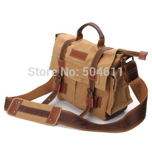 BBK Vintage DSLR SLR Camera Canvas shoulder Messenger Bag for Sony Canon Nikon Olympus BBK2 External Size 26*22*12cm