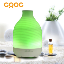 CRDC 200ml Essential Oil Diffuser Ultrasonic Aroma Ripple Portable Aromatherapy Diffuser Air Humidifier for Home with LED Light