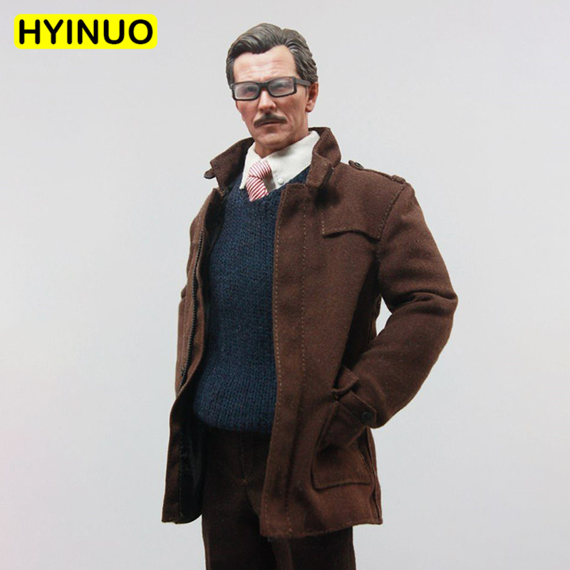 1/6 Scale ATX002 Batman Gotham City Men Gordon Coat Male Clothes Police Chief Clothing Set For 12 Action Figure Male Body
