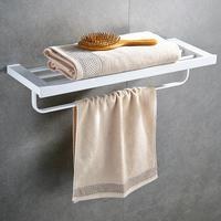 304 Stainless Steel Brushed Gold Towel Rack Bath Towel Holder Towel bar Bathroom Shelves white Bathroom Double Towel Rack