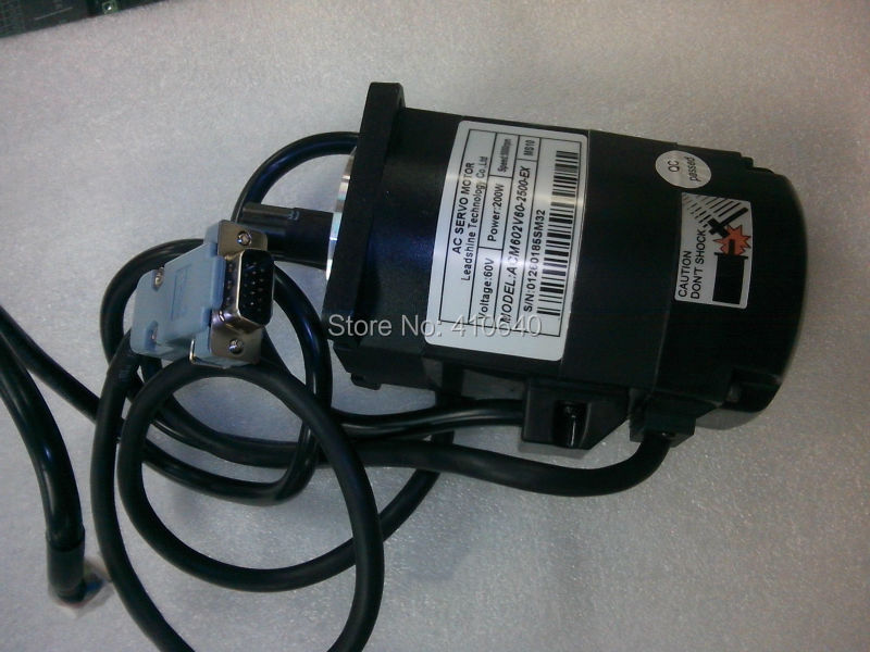 Leadshine ACM602V60  200W Brushless AC Servo Motor,with 2500 -Line Encoder and 4,000 RPM  Speed leadshine 200w brushless ac servo drive and motor kit acs806 acm602v60 2500 new