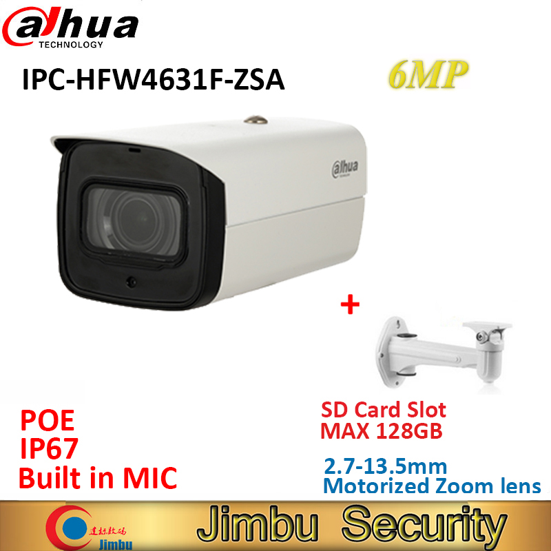 Dahua IPC HFW4631F ZSA 6MP caméra IP varifocale objectif motorisé 2.7 13.5mm POE IP67 cctv IR80m caméra intégrée micro Max128G-in Caméras de surveillance from Sécurité et Protection on AliExpress - 11.11_Double 11_Singles' Day 1