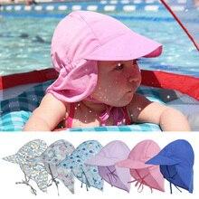Verano gorro de bebé niños niñas al aire libre sol sombrero de playa niños  cuello funda 18e61836d30