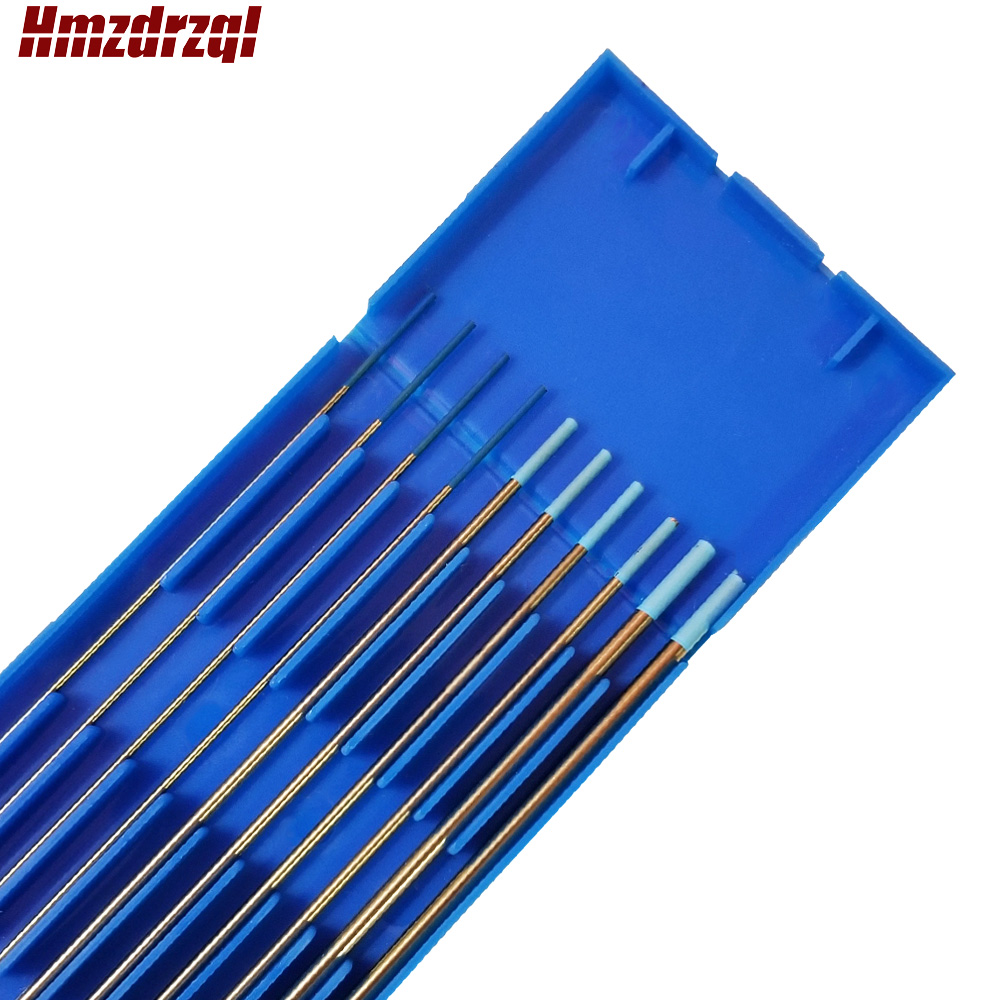 "10 Piece WL20 0.04x6"" 1/16""x6"" 3/32""x6"" Lanthanated Tungsten Electrode Head Tungsten Needle  Blue"