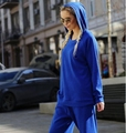 Autumn new hooded women sportsuit